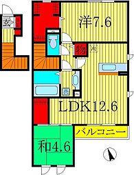 京 V[2階]の間取り
