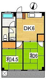 学園パールハイツ[3階]の間取り