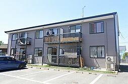 群馬県伊勢崎市八斗島町の賃貸アパートの外観