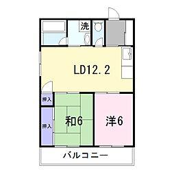 大西マンション[2階]の間取り