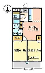 ルミナスハイムII[302号室]の間取り