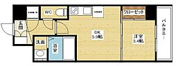 セレニテ新大阪calme(カルム)[2階]の間取り