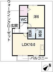 レザンコート A棟[1階]の間取り