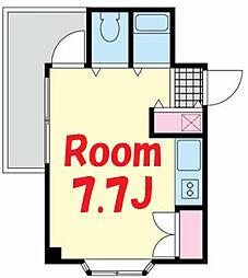 神奈川県横浜市鶴見区岸谷3の賃貸マンションの間取り
