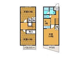 [テラスハウス] 神奈川県川崎市麻生区上麻生5丁目 の賃貸【/】の間取り