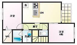シエスタコート[2階]の間取り