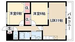愛知県名古屋市緑区滝ノ水1丁目の賃貸アパートの間取り
