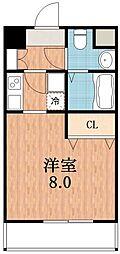 レグルス阿倍野[9階]の間取り