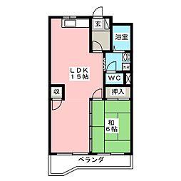 メゾン大平[3階]の間取り