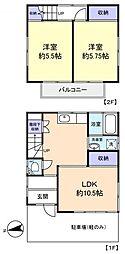 [一戸建] 千葉県八千代市下市場2丁目 の賃貸【/】の間取り