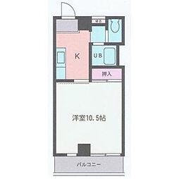 神奈川県海老名市中央2丁目の賃貸マンションの間取り