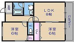 ヴォーヌング堂ヶ芝[2階]の間取り