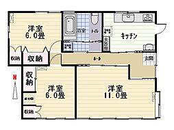 [一戸建] 群馬県太田市藤阿久町 の賃貸【/】の間取り