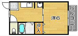 リバティハウス[103号室]の間取り