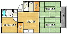 ハイツ山田II[105号室]の間取り