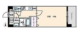 八番町ビルディング 2階1Kの間取り