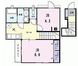 ガーデンヴィラ深大寺III[2階]の間取り