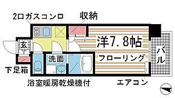 エスリード神戸三宮ノースゲート[702号室]の間取り