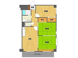 レジデンス笹原[2階]の間取り