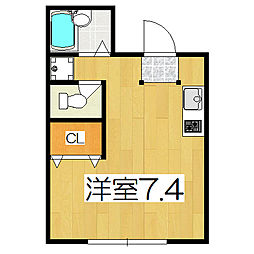 メゾン陽生[3階]の間取り