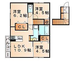 木犀館2[2階]の間取り