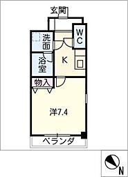 プリミエール鳥居松II[6階]の間取り