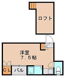 コスモ箱崎[1階]の間取り