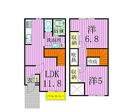 [タウンハウス] 千葉県松戸市根木内 の賃貸【/】の間取り