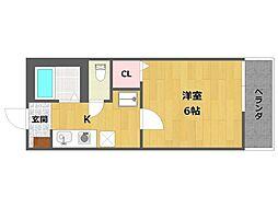 ハッピーハイツ一番館[2階]の間取り