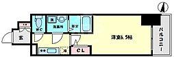 サムティ大正リバーテラス 8階1Kの間取り