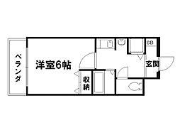 プレサンス京大東[4階]の間取り