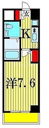 ジェンティーレ・トリヤマ 8階1Kの間取り