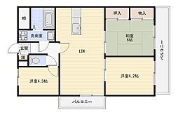ルミナス1(ワン)[5階]の間取り