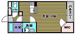 レオパレス大阪狭山II[1階]の間取り
