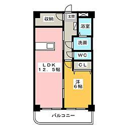 メゾンドマーブル[3階]の間取り