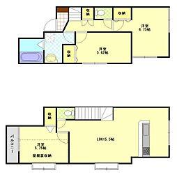 [一戸建] 東京都中野区白鷺2丁目 の賃貸【/】の間取り