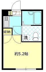 東京都大田区大森中3丁目の賃貸アパートの間取り