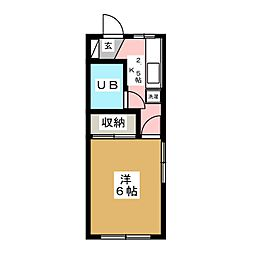Sハイツ[2階]の間取り