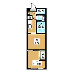 ガーラ・プレシャス東大島 11階2Kの間取り