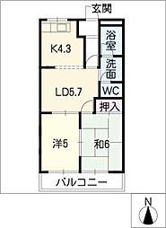 レジデンス165[1階]の間取り