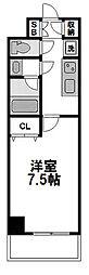 サムティ江坂Vangelo[704号室]の間取り