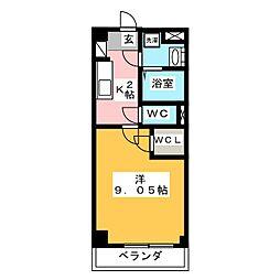 GRAN DUKE 算所[6階]の間取り