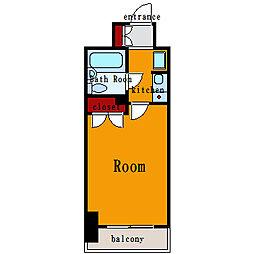 パレ・ドール月島[2階]の間取り