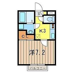 アウラ ステージ[2階]の間取り