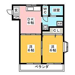 高崎マンション[2階]の間取り