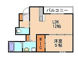 (仮)原田1丁目新築アパート 1階1LDKの間取り