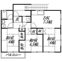 [一戸建] 静岡県浜松市中区高丘東3丁目 の賃貸【/】の間取り