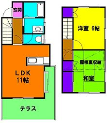 [テラスハウス] 静岡県浜松市中区領家3丁目 の賃貸【/】の間取り