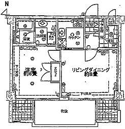 ヴェルビュ二条城東[305号室号室]の間取り