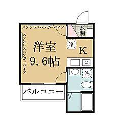 埼玉県草加市谷塚1丁目の賃貸マンションの間取り